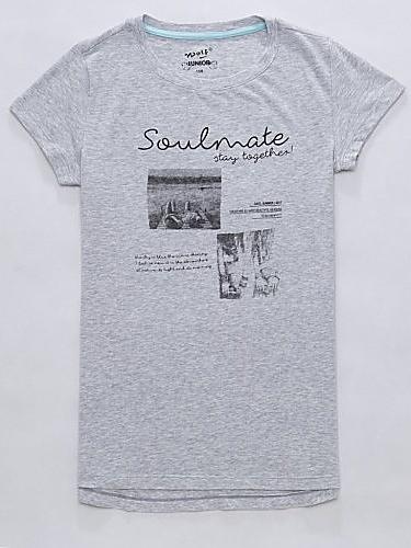 Dětské dívčí tričko krátký rukáv Wolf S2713 šedé, vel. 164