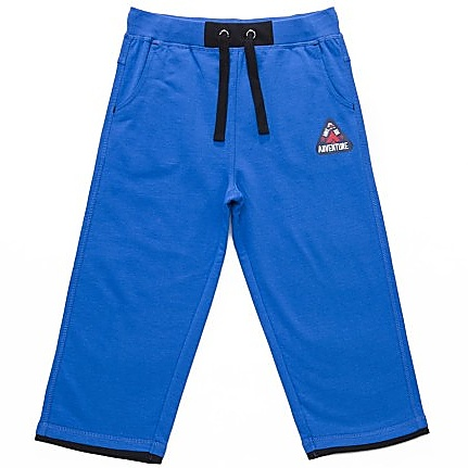 Dětské chlapecké 3/4 tepláky Wolf T2741 modré, vel. 122
