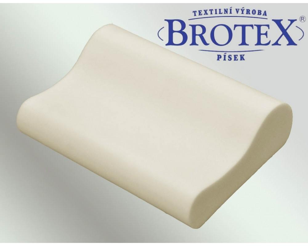 Brotex Písek Polštář anatomický polyuretan 45x35cm povlak z froté