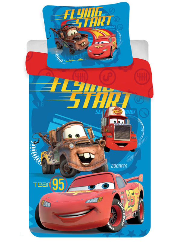 Jerry Fabrics Povlečení Cars 2016 micro 140x200 + 70x90 cm