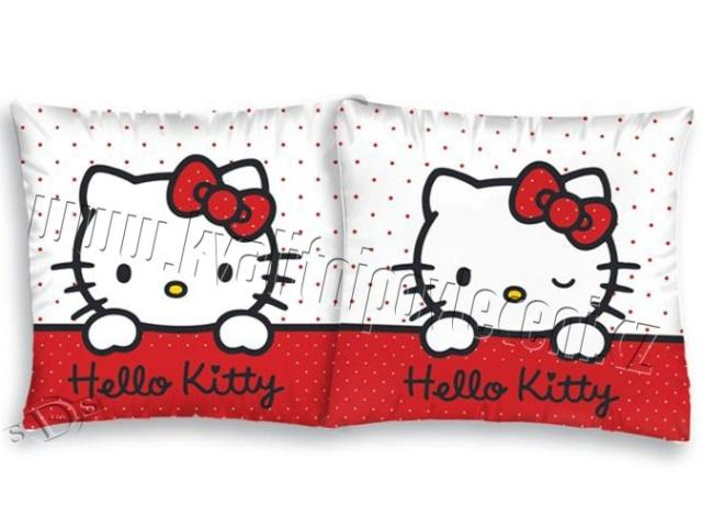 Detexpol Povlak na polštářek Hello Kitty bílá bavlna 40x40 cm