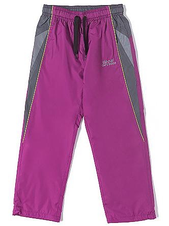 Dětské šusťáky, šusťákové kalhoty Wolf T2662 růžové, vel. 104