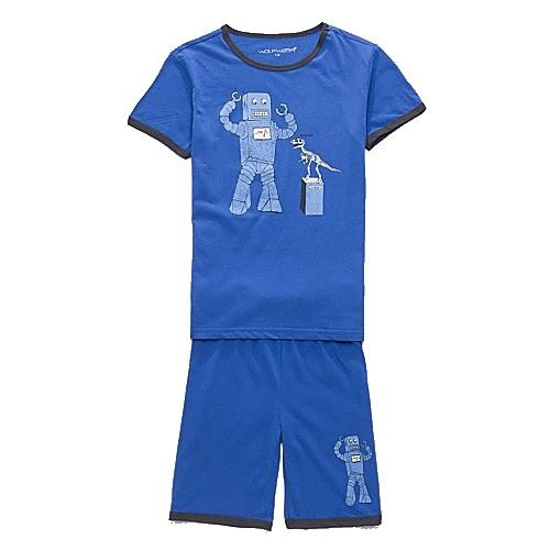 Dětské chlapecké letní pyžamo Wolf S2763 modré, vel. 98