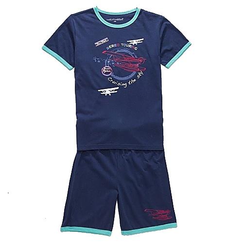 Dětské chlapecké letní pyžamo Wolf S2763 tm. modré, vel. 98