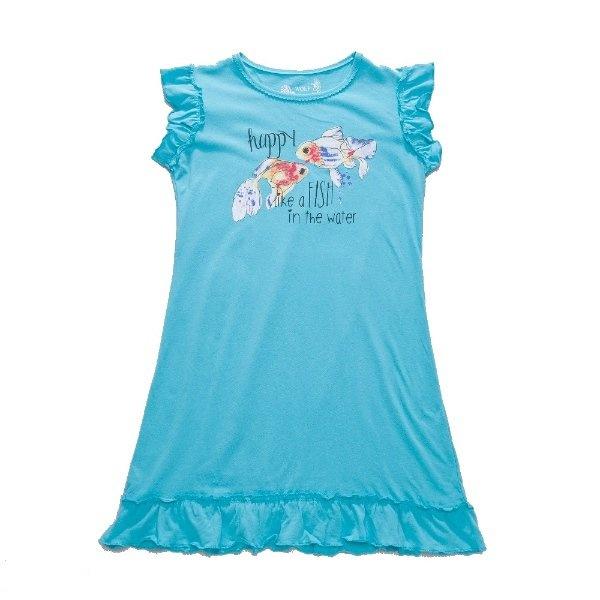 Dívčí noční košile Wolf S2757 modrá, vel. 128