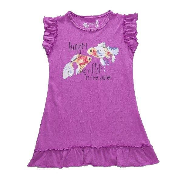 Dívčí noční košile Wolf S2757 fialová, vel. 134