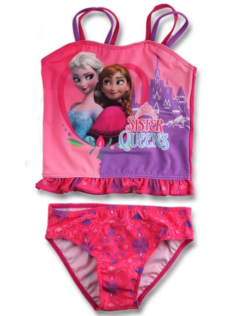 Dívčí dvoudílné plavky Frozen 910-331 Tm. růžové, vel. 128