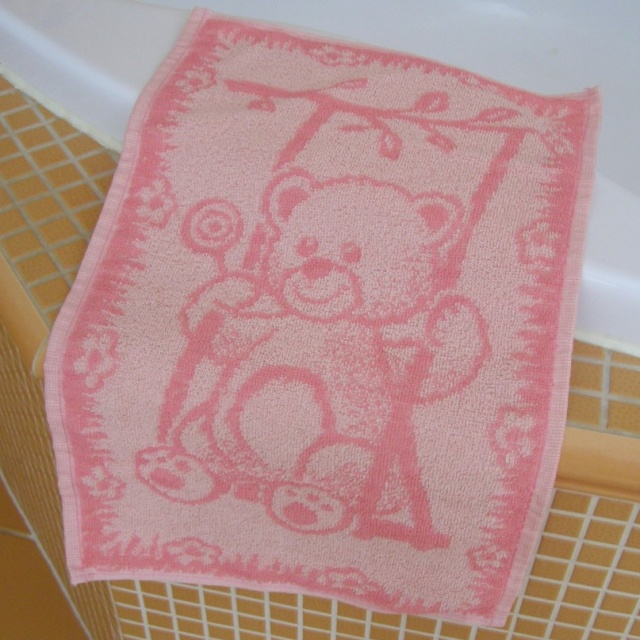 Brotex Dětský froté ručník 50x30cm Medvídek růžový