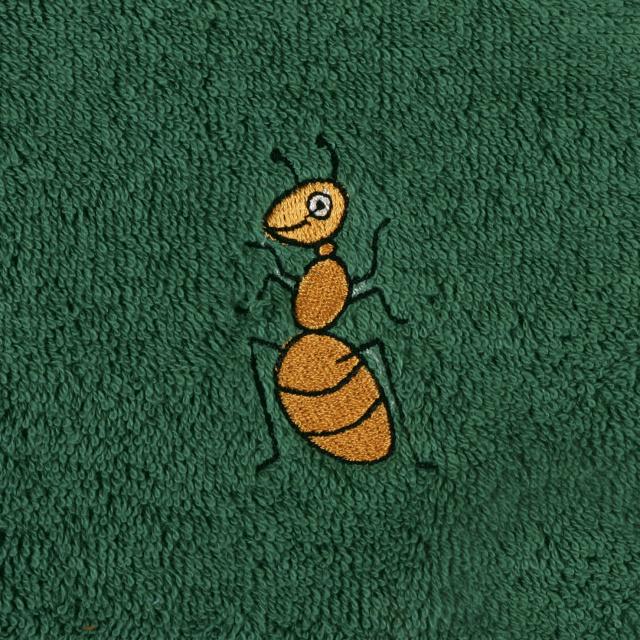 Bellatex Dětský froté ručník s výšivkou, tm. zelený