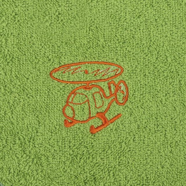 Bellatex Dětský froté ručník s výšivkou, olivový