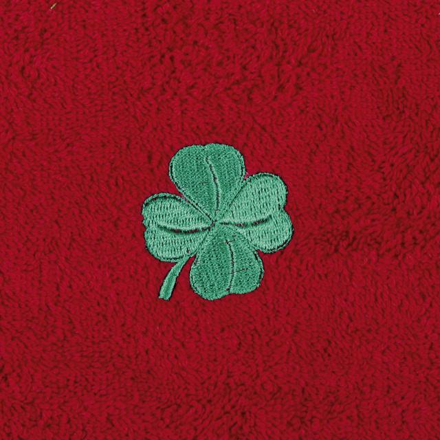 Bellatex Dětský froté ručník s výšivkou, červený