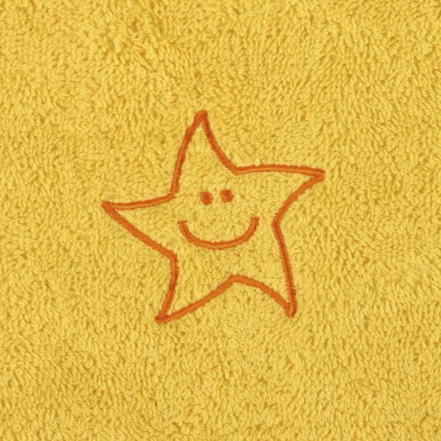 Bellatex Dětský froté ručník s výšivkou, žlutý