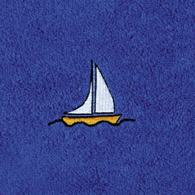 Bellatex Dětský froté ručník s výšivkou, tm. modrý
