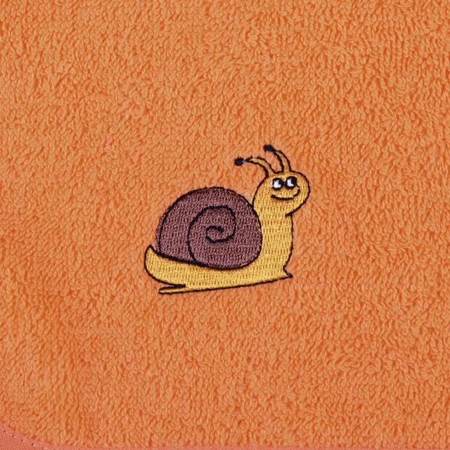 Bellatex Dětský froté ručník s výšivkou, oranžový
