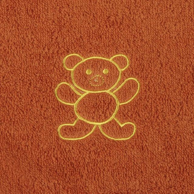 Bellatex Dětský froté ručník s výšivkou, terra