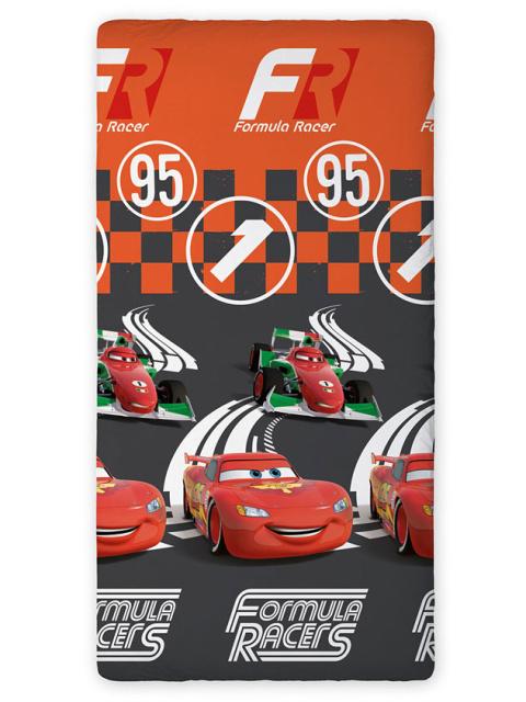 Faro Prostěradlo Cars Blesk a Francesko oranžové bavlna 90x200 cm