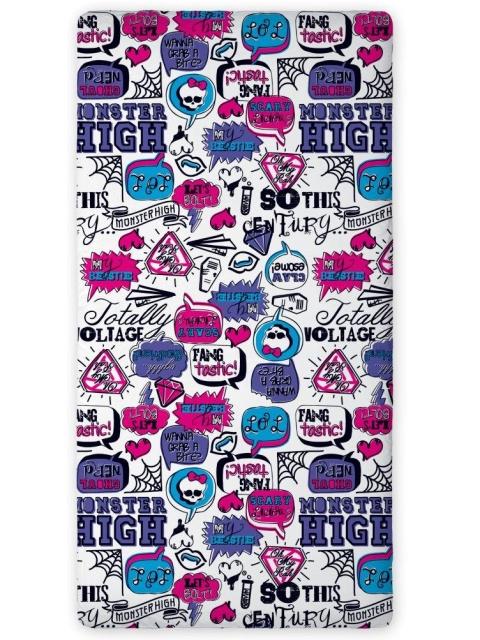 Faro Prostěradlo Monster High bílá bavlna 90x200 cm