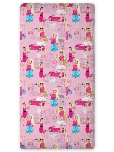 Faro Prostěradlo Barbie Style růžové bavlna 90x200 cm