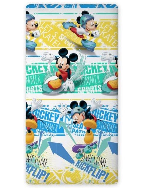 Faro Prostěradlo Mickey Summer bílé bavlna 90x200 cm
