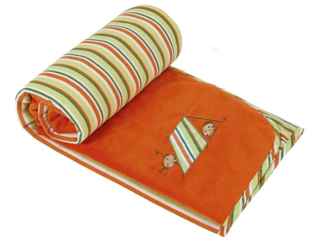 Bellatex Dětská přikrývka Bára s výšivkou 75x100 cm oranžová