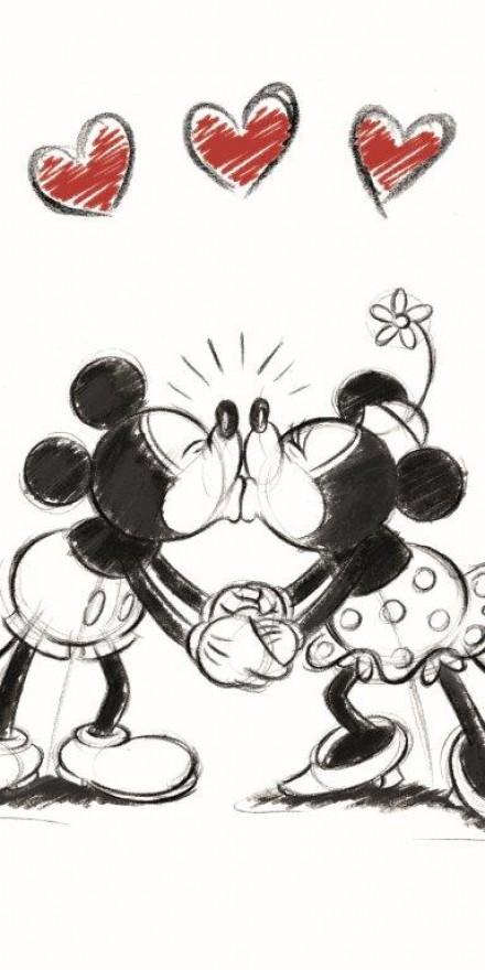 Faro Dětská osuška Mickey & Minnie 002 70x140 cm