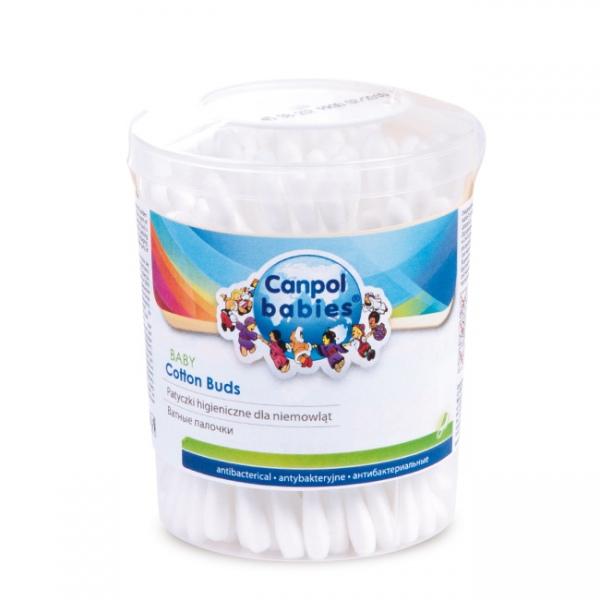 Fotografie Canpol Babies 3/112 Vatové tyčinky v dóze 100 ks