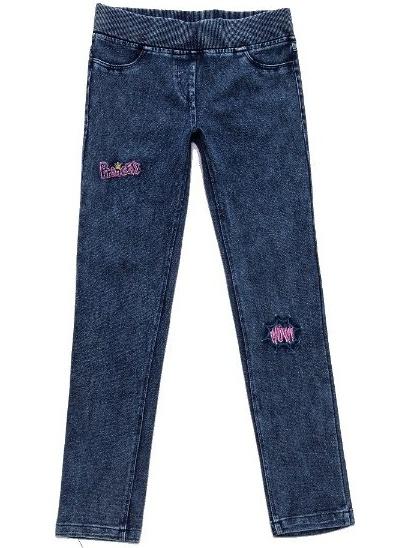 Dětské dívčí legíny jeans Wolf T2784 tmavě modré, vel. 134