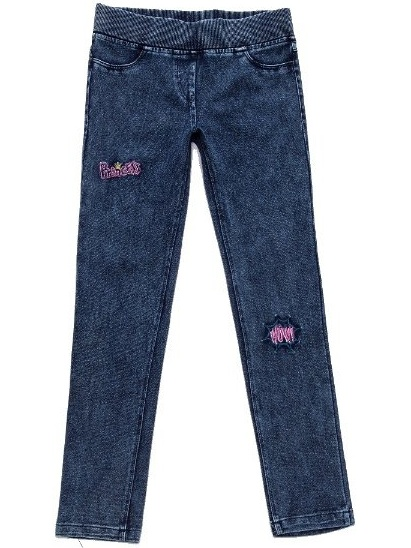 Dětské dívčí legíny jeans Wolf T2784 tmavě modré, vel. 116