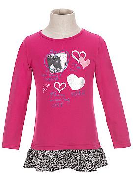 Dětské dívčí triko dlouhý rukáv Wolf S2615 Růžové, vel. 104
