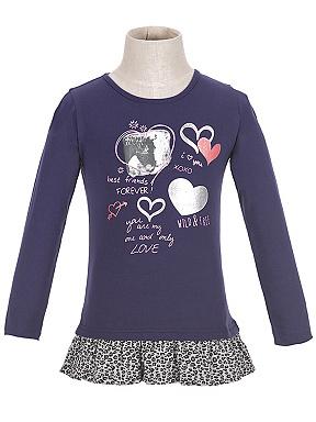 Dětské dívčí triko dlouhý rukáv Wolf S2615 Modré, vel. 104