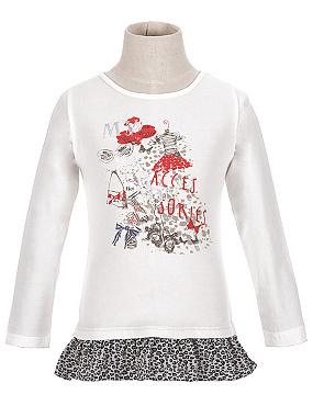 Dětské dívčí triko dlouhý rukáv Wolf S2615 Bílé, vel. 116