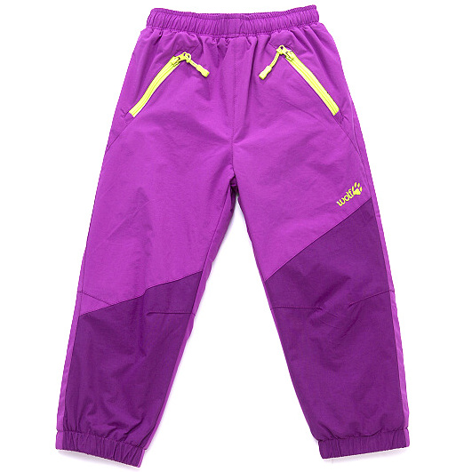 6b5ce27b13d Dětské zateplené šusťákové kalhoty Wolf B2771 fialové