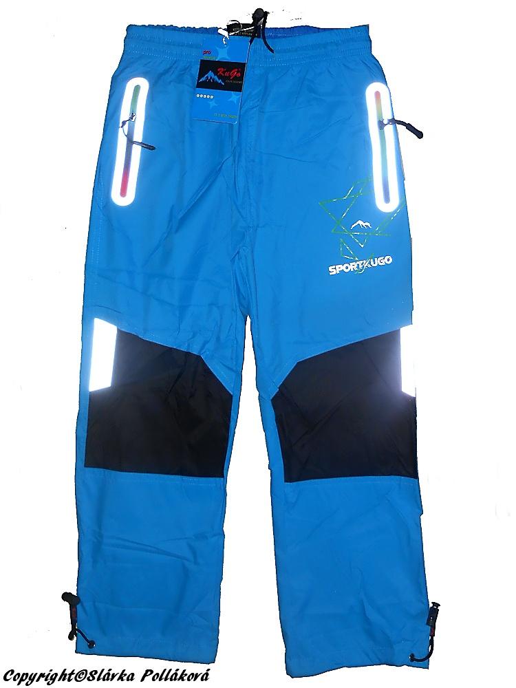 5774520cb87 Dětské šusťákové kalhoty Kugo K718 tyrkysová