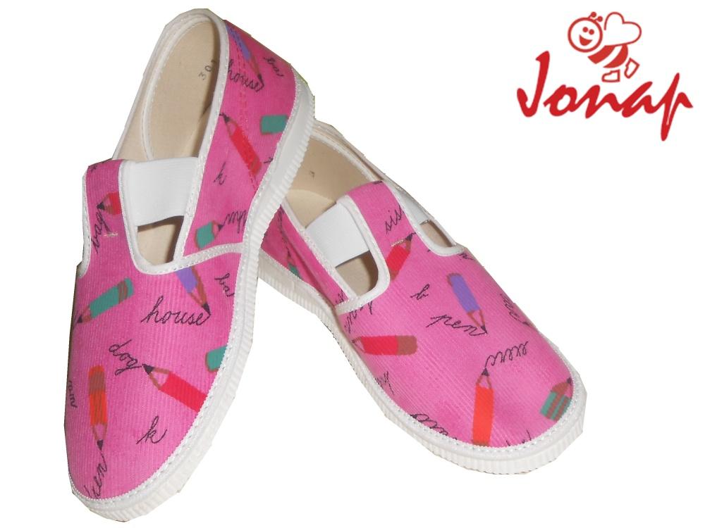 Dětské nazouvací bačkory Jonap 201 301 růžové pastelky 097da77006