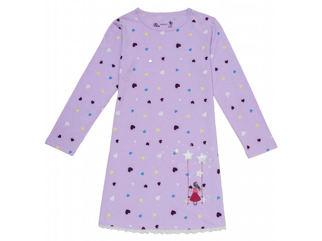 f844105cd8e0 Dětská dívčí noční košile dl.r. Wolf S2883 fialová