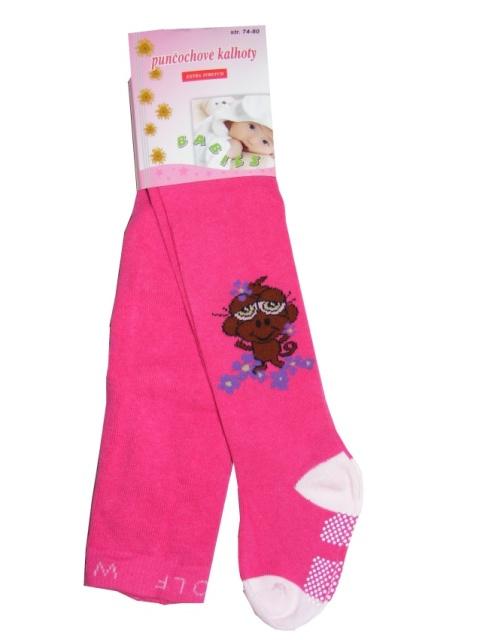 Dětské punčocháče Wolf P2911 s protiskluzem růžová bcf494dd87