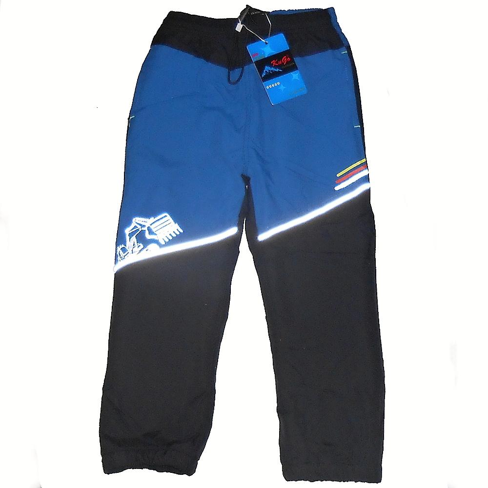 Dětské zateplené šusťákové kalhoty Kugo H200 modrá d273ef691b