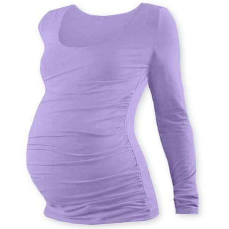17f3a941423e Těhotenské tričko Jožánek Johanka dlouhý rukáv levandulová