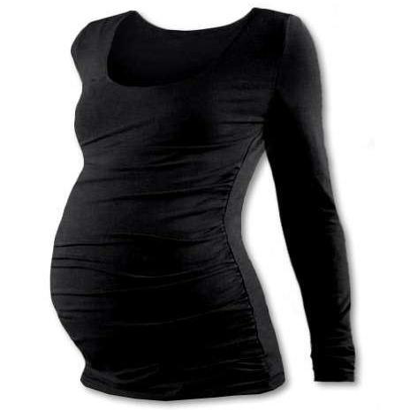 d172e4f45ded Těhotenské tričko Jožánek Johanka dlouhý rukáv černá