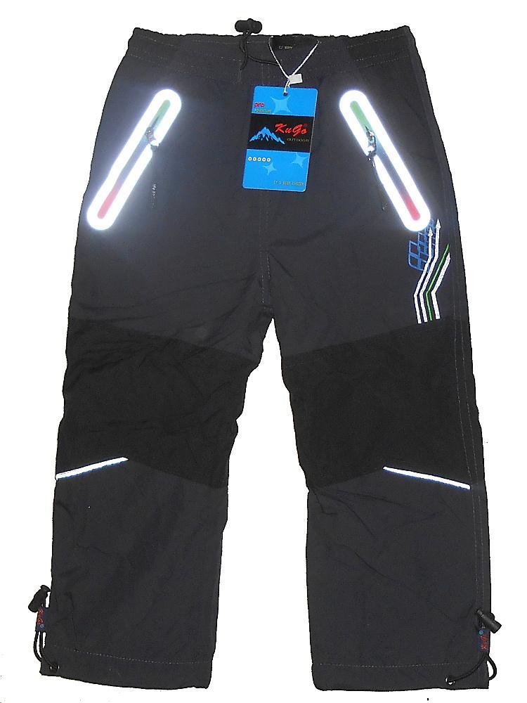 Dětské zateplené šusťákové kalhoty Kugo H206 šedá c9ef81d697