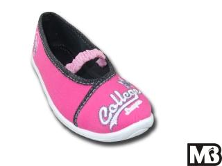 Dětská dívčí plátěná obuv MB Kids 728-B College 6092d2e9c2