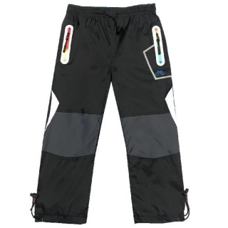 Dětské šusťákové kalhoty s bavlnou Kugo K715 černá 0f751c511d