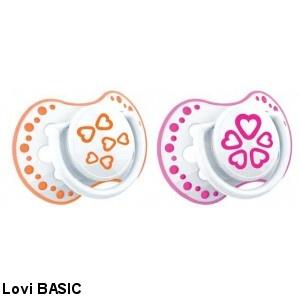 Fotografie 22/804 Šidítko 3-6m silikonové dynamické LOVI Basic 2ks růžové