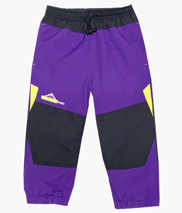Dětské zateplené šusťákové kalhoty Kugo H201 fialová 110