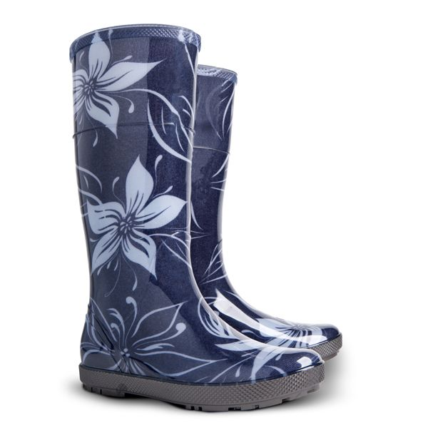 Dámské holinky Demar Hawai Lady Exclusive 0077 EC bílý květ