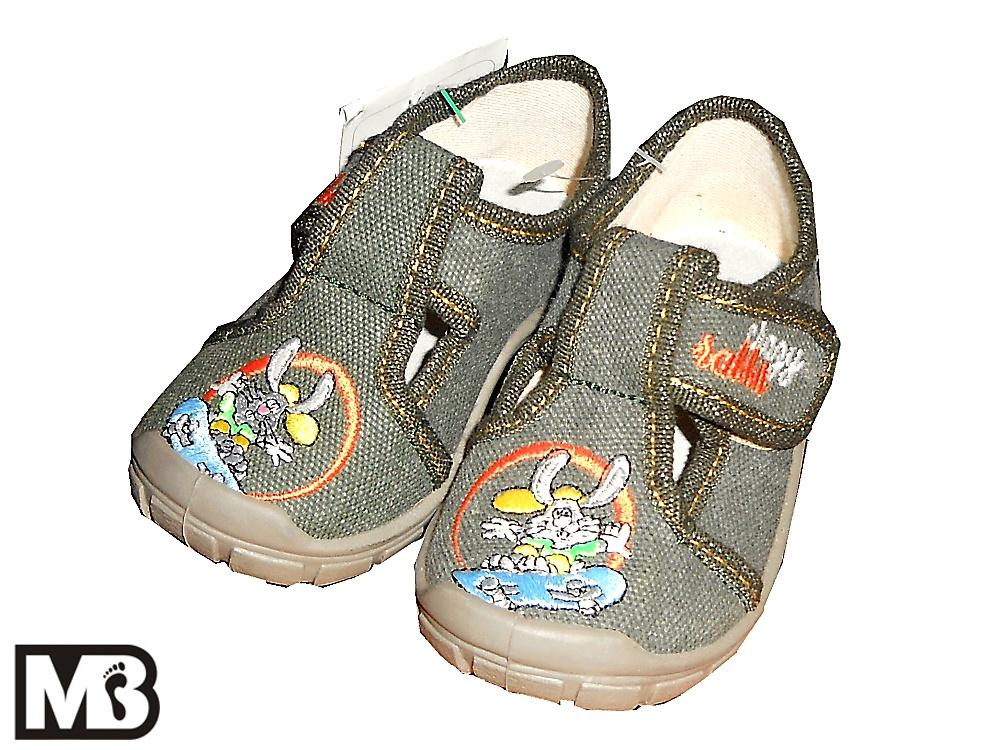 Dětská chlapecká plátěná obuv MB Kids 106 Rabbit cf78badc4c