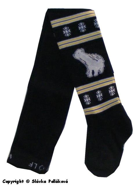Dětské chlapecké punčocháče Wolf P2411 černá