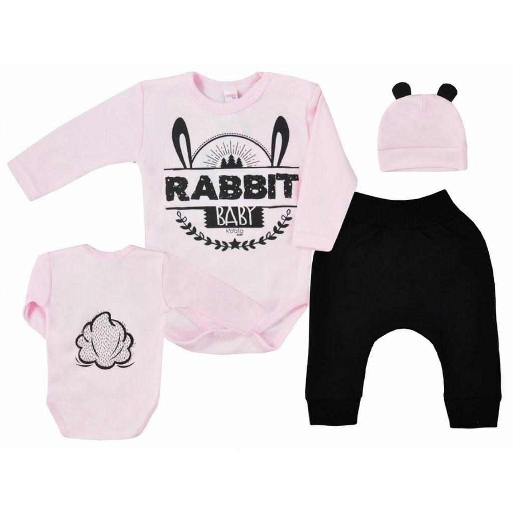 3-dílná kojenecká souprava Koala Little Tail pink 68
