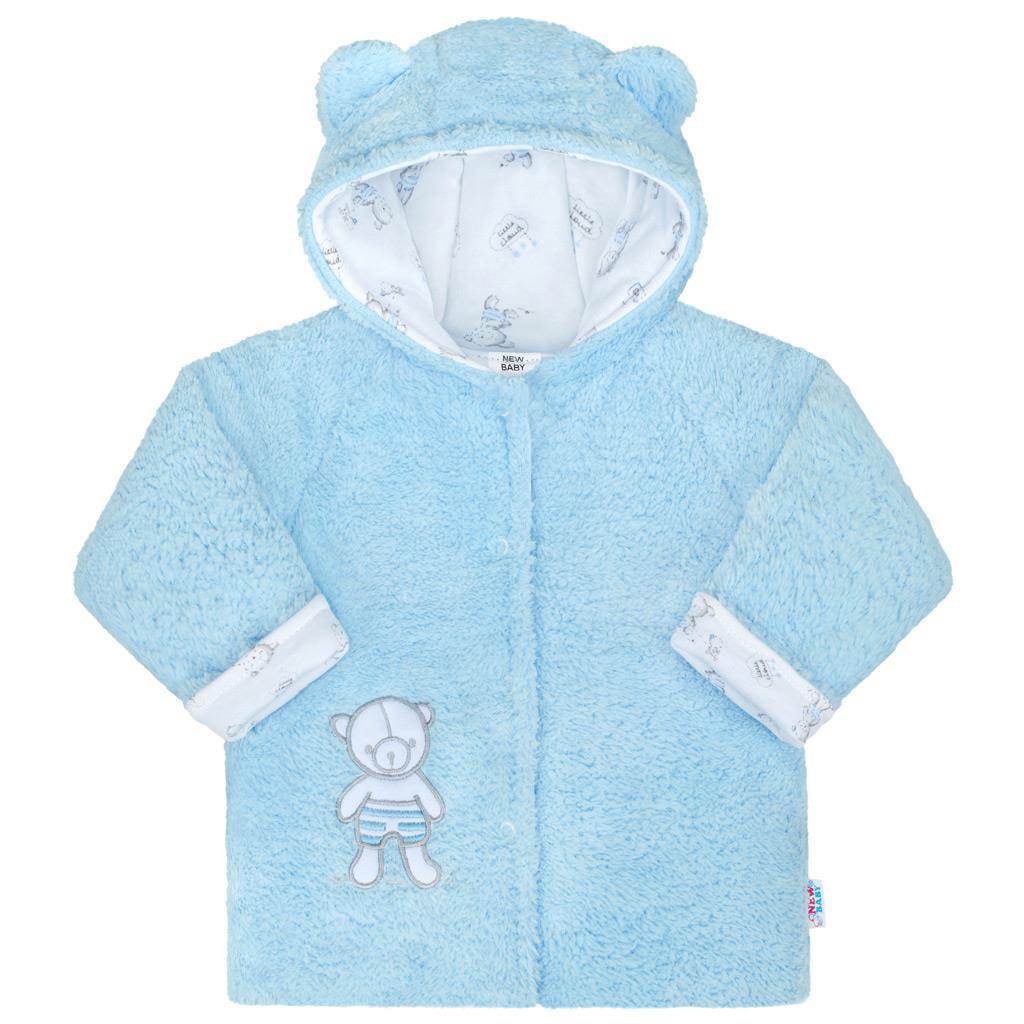 Zimní kojenecký kabátek New Baby Nice Bear modrý