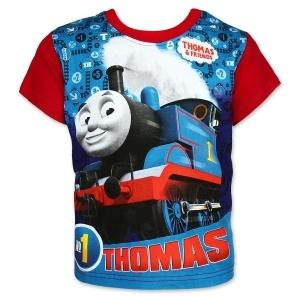 Dětské chlapecké tričko Setino 962-386 Mašinka Tomáš červené 92